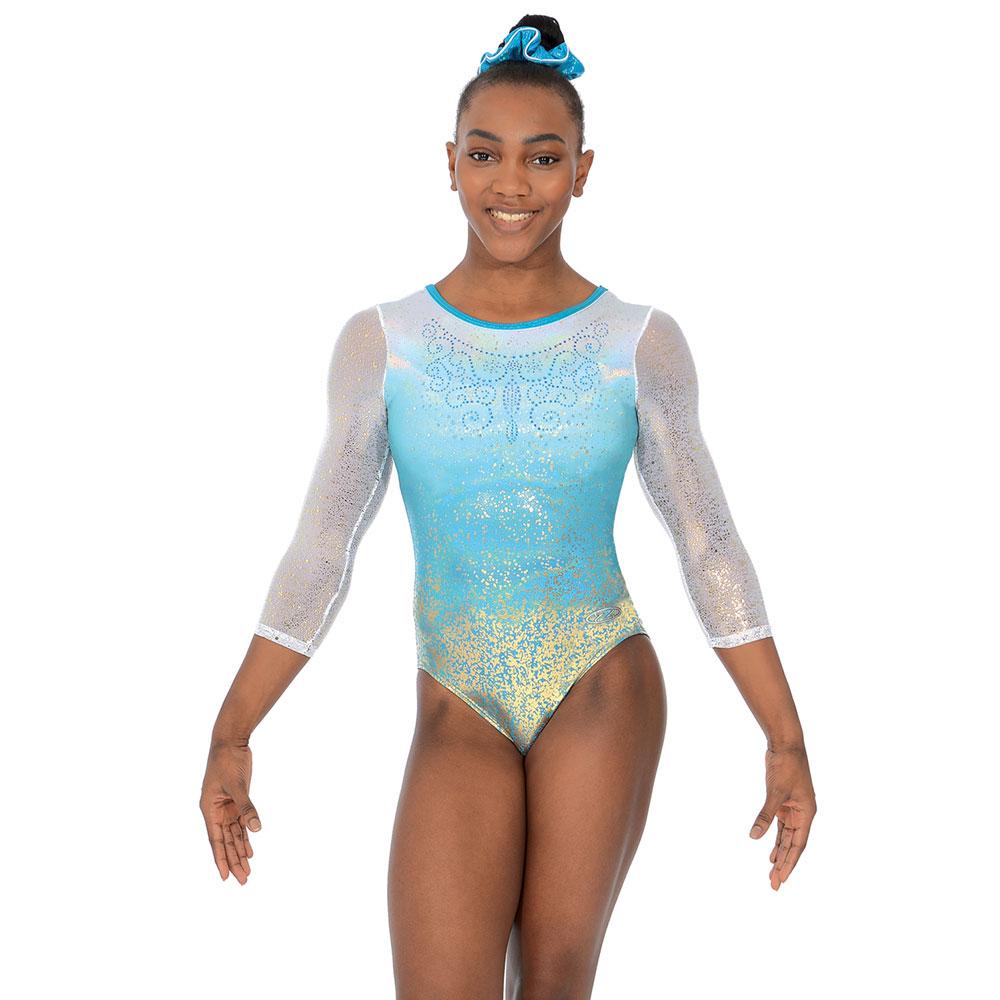 c096cda83009 Aura 3 4 sleeve round neck leotard - Gymnastics
