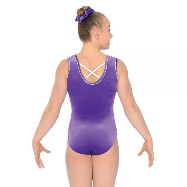 Crystal sleeveless gymnastics leotard